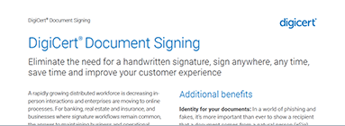 DigiCert Document Signing