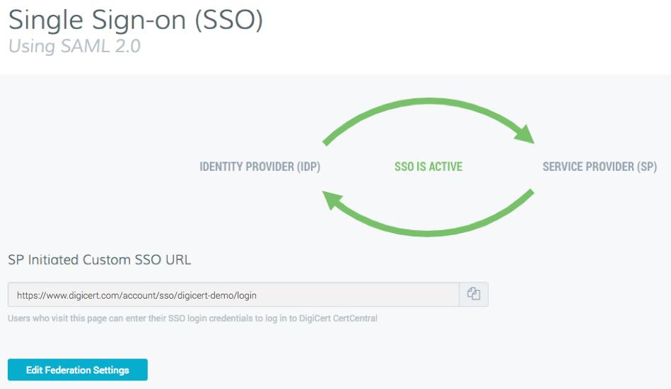 Configuring SAML SSO | CertCentral