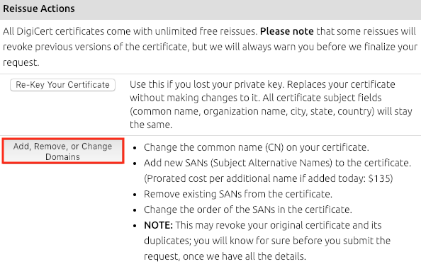 Adding Sans To A Certificate