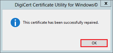 Certificate Repaired, Reboot Server