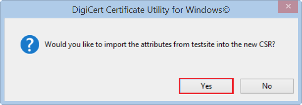 Create a renewal CSR in Windows
