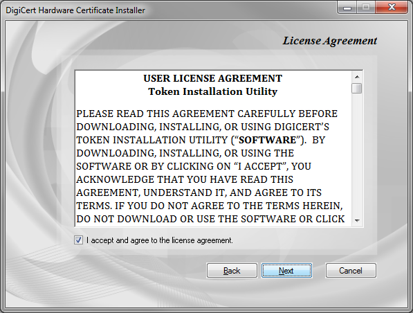 EV Code Signing Utility License Agreement