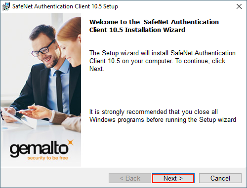Welcome to Safenet Authentication Client