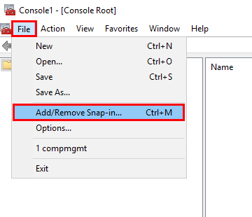 Add/Remove Snap-in...