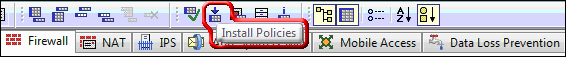 Screenshot showing Install Policies button