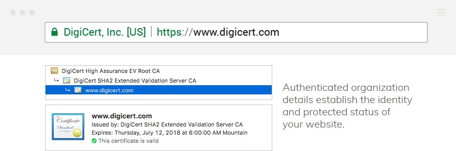 Extended Validation SSL Certificate | DigiCert.com
