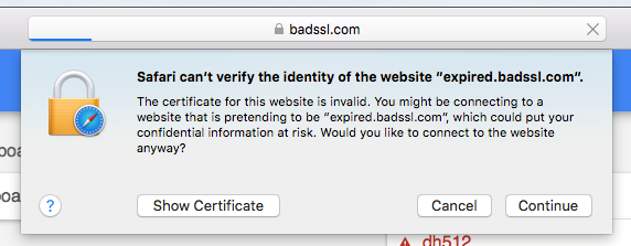 Safari 11 Introduces Improved UI for Certificate Warnings - DigiCert